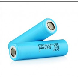 2500mAh SAMSUNG - INR18650-25R High-drain Battery - 12C / 20A