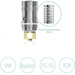 Eleaf -- NC 0.25ohm -- X5 PACK COILS -- (Notch Coil)