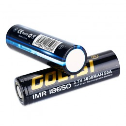 3000mAh Golisi - S30 IMR 18650  High-drain Battery - 50A