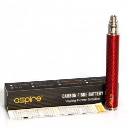 ASPIRE CF VV Battery - 650mAh - Carbon Fiber RED