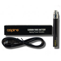 ASPIRE CF - PassThru 900mAh Battery - Carbon Fiber BLACK