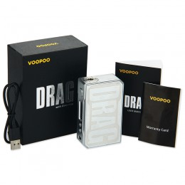 VOOPOO - DRAG 157W TC Box MOD W/O Battery - Carbon Fiber Black and Steel