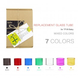 7pcs COLOUR GLASS – for SMOK BABY (3ml)