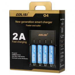 Golisi O4 - 2.0A Fast Smart Charger - 4 Bay
