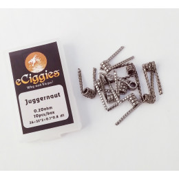 10pcs eCiggies Coils - Juggernaut - 0.45ohm