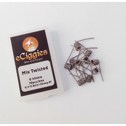 10pcs eCiggies Coils - Mix Twisted - 0.45ohm