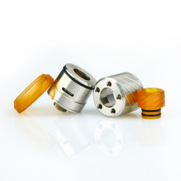 Italian BoomStick Engineering Reaper 18mm RDA - Blasted Stainless Steel
