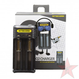 Nitecore - Q2 2-slot 2A Quick Charger - Blackberry