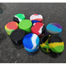 Silicone Jars (Wax / Oil Container / 7ml ) - Black