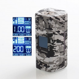 Hugo Vapor - Rader ECO 200W Box MOD (Excluding Batteries) - Grey Camo