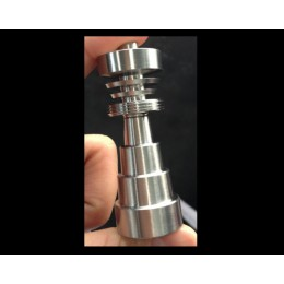 Domeless Titanium Universal DAB Nail -- 6 in 1