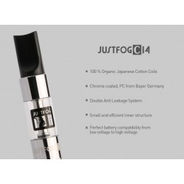 JUSTFOG -- NEW C14 -- CLEAROMIZER (Bottom Coil)