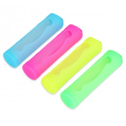 4 Pack -- Silicone Covers for 18650 Batteries